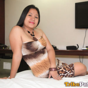 Mature Filipina Housewife on hotel bed