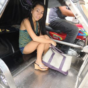 Petite Asian Girl in a Trike