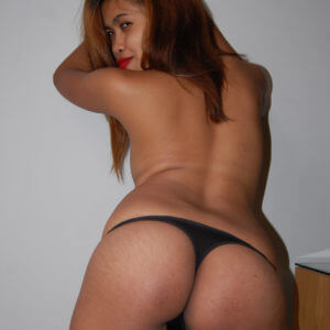 Black panties in Filipina POV video