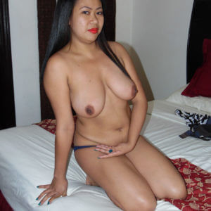 Huge Asian tits unveiled on bed