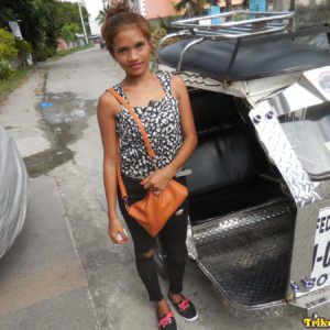 Skinny Filipina Lyn before getting into Trike Patrol