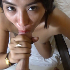 filipina strokes white cock