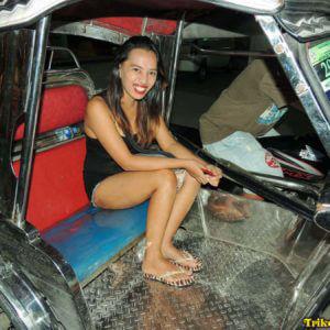 Filipina in Trike on Trike Patrol