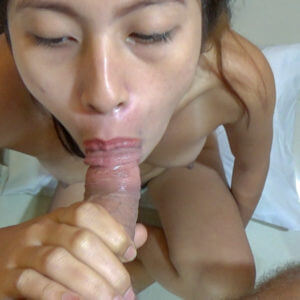Young Filipina sucking hard white dick
