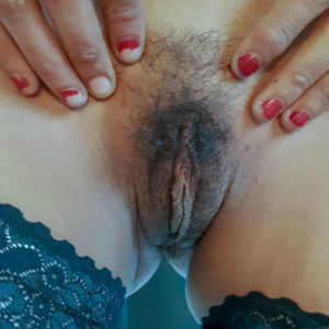 Slutty Asian Girl Showing Hairy Pussy