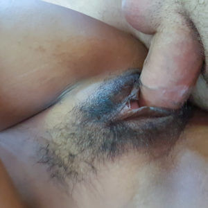 Slutty Asian Girl with big white cock in pussy