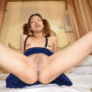 A nice shaved asian vagina spread open